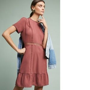 NWOT Anthropologie Moon River | Dusty Rose Dress